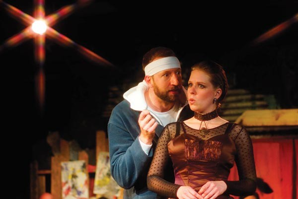 Everett Lowe and Jenny Malarkey in The Ruling Class, at Throughline - PHOTO COURTESY OF RICK MOORE