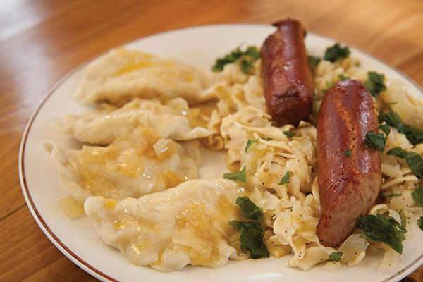 Pierogies, haluski and kielbasa - PHOTO BY HEATHER MULL