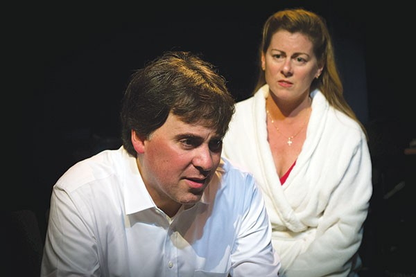 Greg Caridi and Jill Waltersin Lucky Guy, at Little Lake Theater - PHOTO COURTESY OF HEATHER SPIRIK