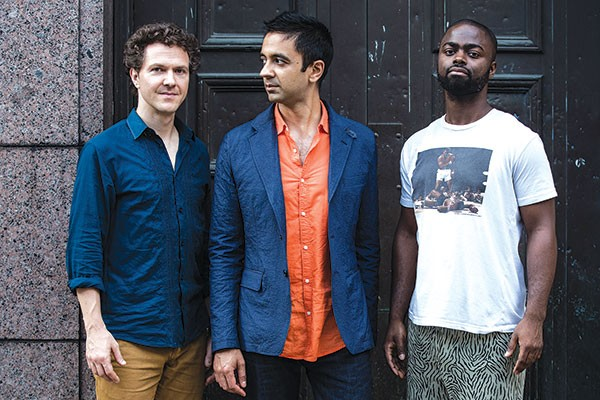 The Vijay Iyer Trio (Iyer, center) - PHOTO COURTESY OF BART BABINSKI