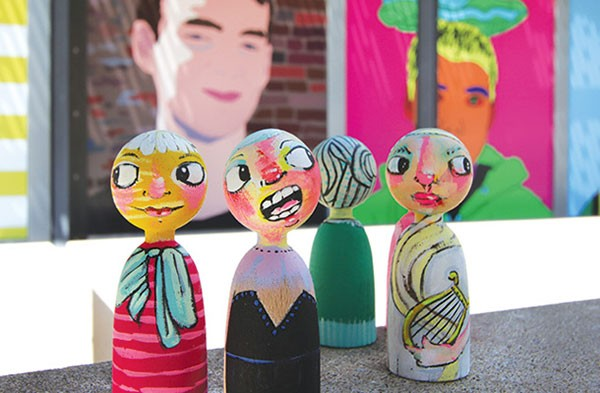 Dolls painted by Jennifer Howison - PHOTO BY HEATHER MULL