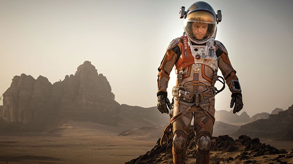 At least the scenery is nice: Matt Damon is stranded on Mars.