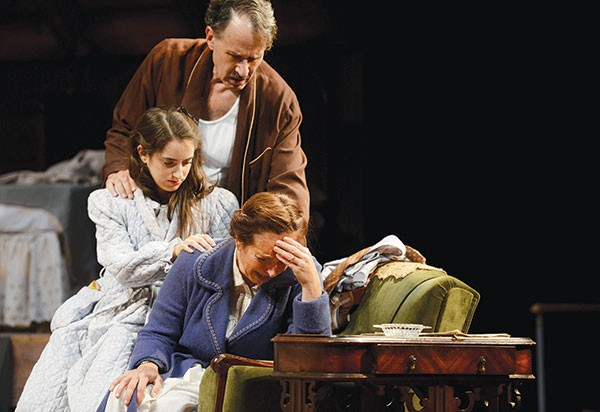 Left to right: Remy Zaken, Randy Kovitz and Christine Laitta in The Diary of Anne Frank, at Pittsburgh Public Theater. - PHOTO COURTESY OF PITTSBURGH PUBLIC THEATER