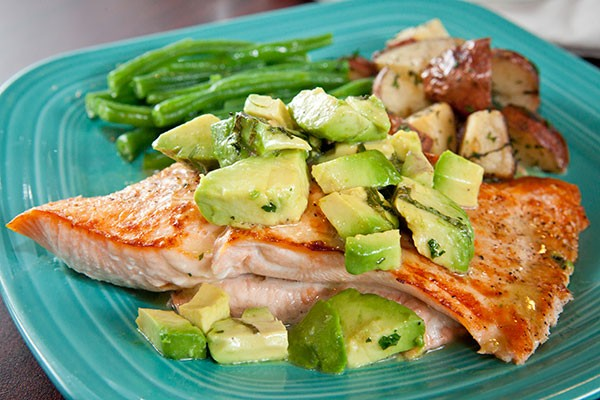 Royal Canadian salmon in tarragon-avocado butter - PHOTO BY HEATHER MULL