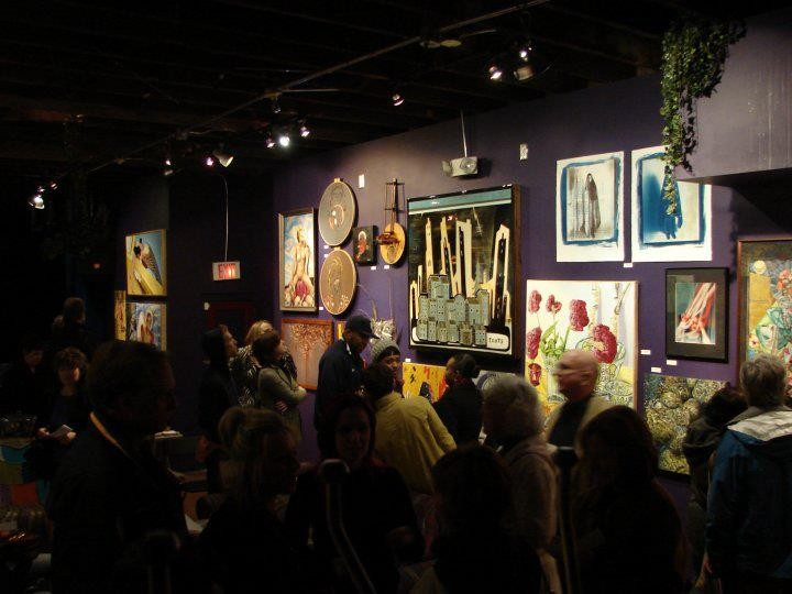 Crowds at ModernFormations' 2009 Spring Salon - PHOTO COURTESY OF JENNIFER QUINIO