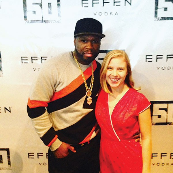 The author with Effen Vodka owner and spokesman 50 Cent
