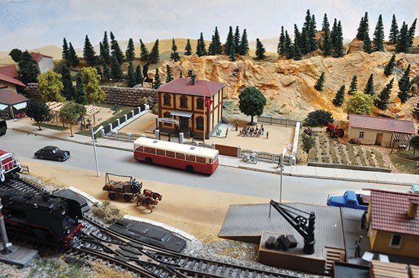 A model of the Turkish countryside that Enis Koral constructed in his Edgewood attic - PHOTO COURTESY OF MIMI KORAL