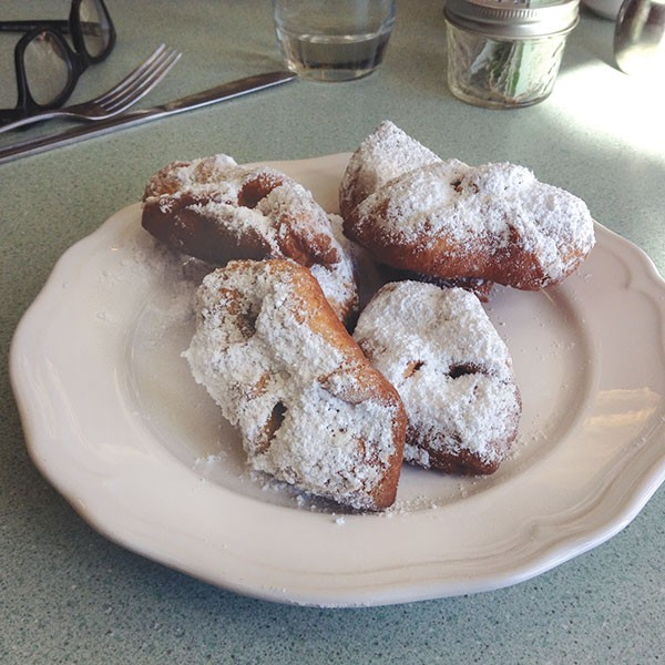 Ceregi — fresh, hot doughnuts — await brunchers. - PHOTO BY AL HOFF