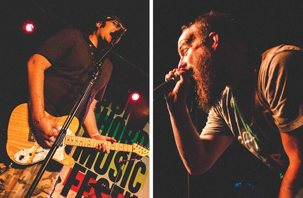 The SpacePimps (left) and the Wonder Years at last year's Four Chord festival - PHOTO COURTESY OF EMILY KOVACIC