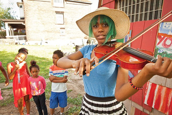 TaeAjah Cannon in Bricolage's outdoor-set Saints Tour - PHOTO BY HEATHER MULL