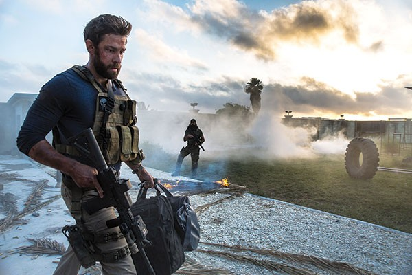A secret soldier (John Krasinski) at dawn