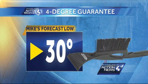 "Win an ""ice scrapper""! - SCREENCAP FROM WTAE.COM VIDEO CAST"
