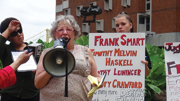 Protesters spoke out against poor healthcare services at the Allegheny County Jail last May. - CP FILE PHOTO BY ASHLEY MURRAY