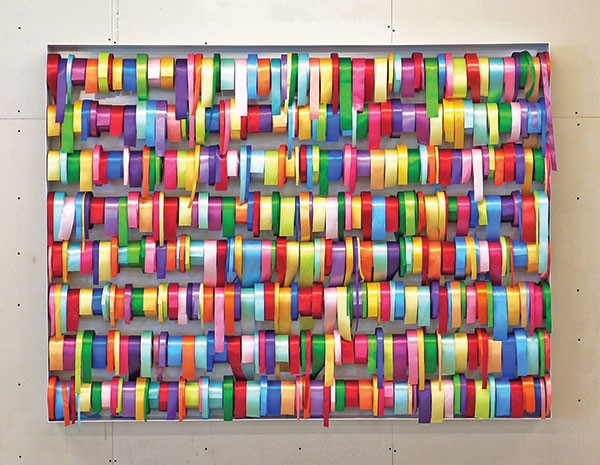 "Peter Coffin's ""Untitled (Ribbons)"""