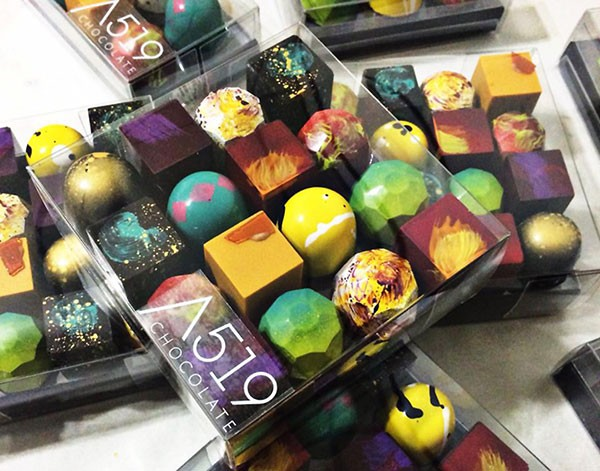 A519's colorful chocolates - PHOTO COURTESY OF AMANDA WRIGHT