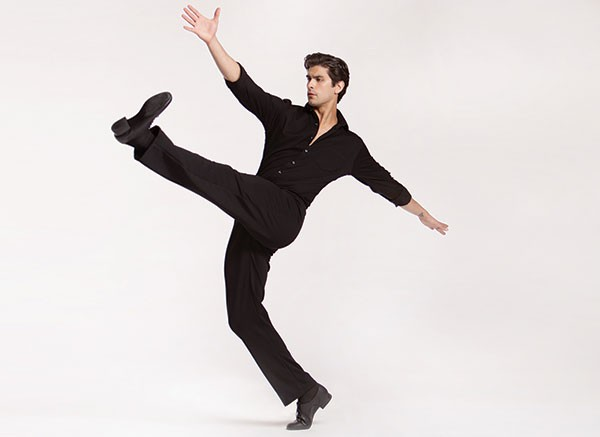 "Alejandro Diaz in James Kudelka's ""The Man in Black"" at Pittsburgh Ballet Theater - PHOTO COURTESY OF DUANE RIEDER"