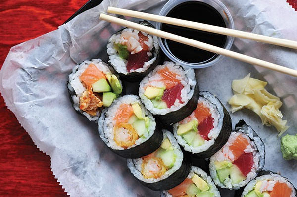 A variety of sushi, made to order