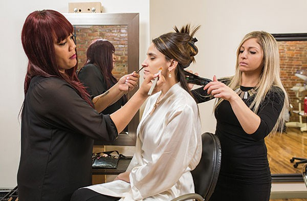 Salon Ivy makeup artist Jasmine Coleman and hairstylist Bethany Novak make over Lacey Bell