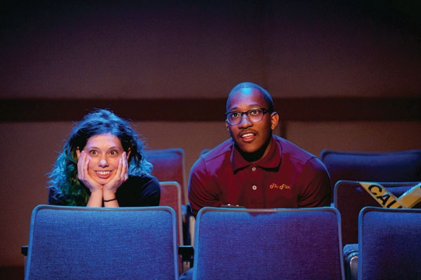 Sarah Silk and Saladin White II in The REP's The Flick