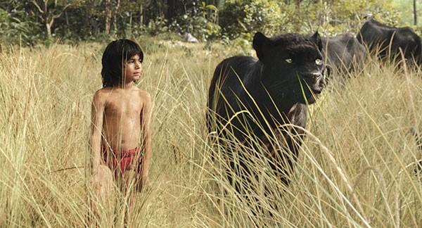 Mowgli (Neel Sethi) and Bagheera