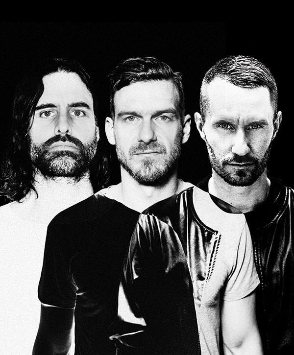 Miike Snow: (left to right) Andrew Wyatt, Pontus Winnberg and Christian Karlsson
