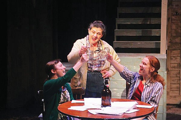 From left: Erin Lindsey Krom, Terry Wickline and Lindsay Bayer in The Spitfire Grill, at Front Porch Theatricals