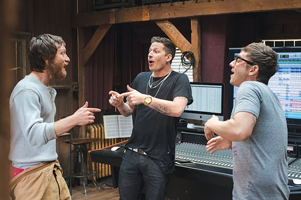 Band of boys: Kiva Schaffer, Andy Samberg and Jorma Taccone