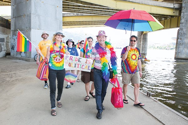 Roots Pride attendees protest Pittsburgh Pride last June