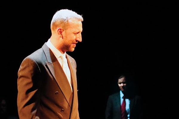 Everett Lowe in Judgment at Nuremburg, at Throughline Theatre