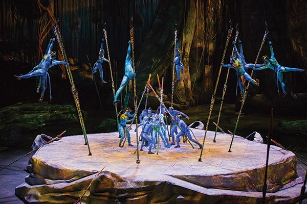 "A scene from ""Toruk"" - PHOTO COURTESY OF ERRISSON LAWRENCE. COSTUMES BY KYM BARRETT © 2015 CIRQUE DU SOLEIL"