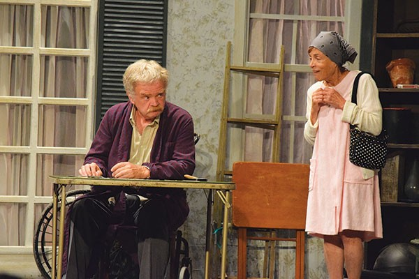 """Shirley Ratner and Dennis """"Chip"""" Kerr in Apple Hill's The Gin Game"""