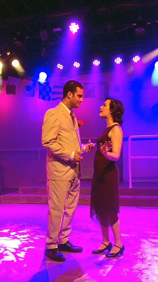 "Jeff Johnson and Alex Swartz perform ""It's Delovely"" in Anything Goes, at The Theatre Factory"