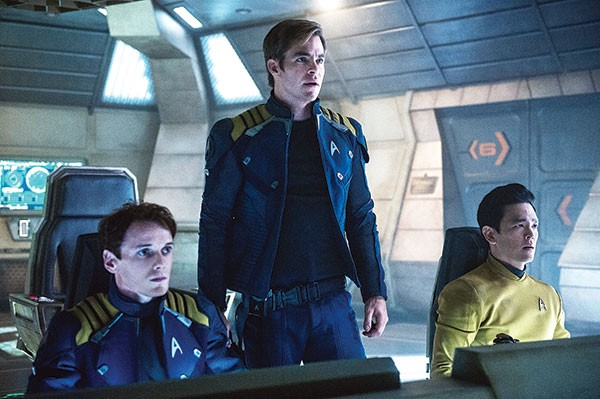 Men of Enterprise: Anton Yelchin, Chris Pine and John Cho
