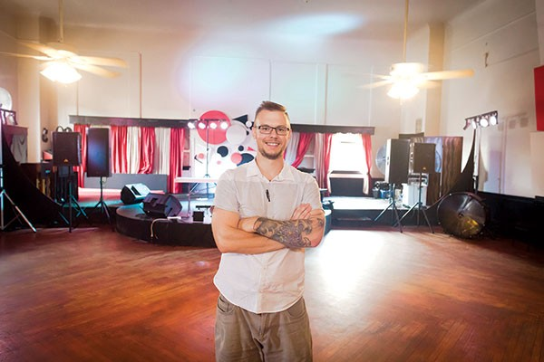 James Street owner and manager Kevin Saftner in the venue's upstairs ballroom