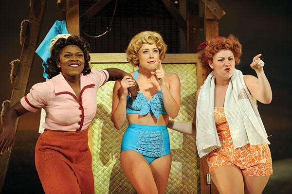 From left to right: Nkeki Obi-Melekwe, Erika Henningsen and Mara Newbery in Pittsburgh CLO's South Pacific