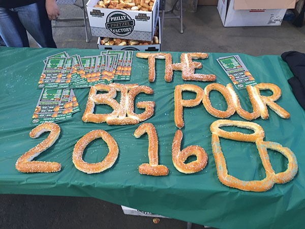 Pretzels go great with beer at the Steel City Big Pour.