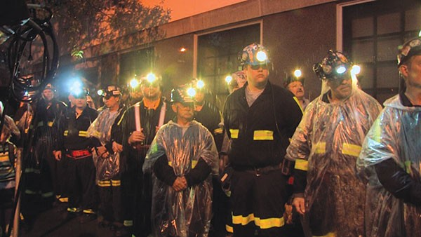 Coal miners in Blood on the Mountain