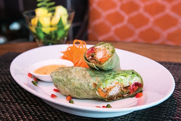 Soft-shell crab wrap
