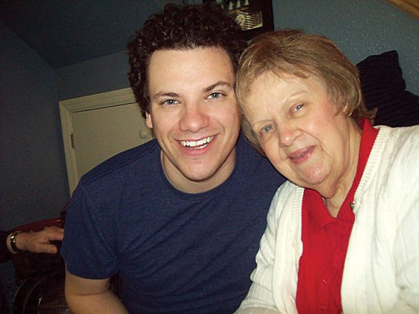Brandon Grbach and his grandmother - PHOTO COURTESY OF BRANDON GRBACH