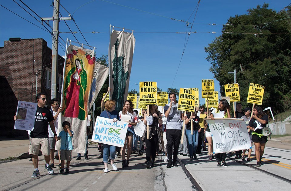 More than 200 activists and concerned citizens held a rally on Sun., Sept. 25 for Martín Esquivel-Hernandez in Beechview. - CP PHOTO BY LUKE THOR TRAVIS