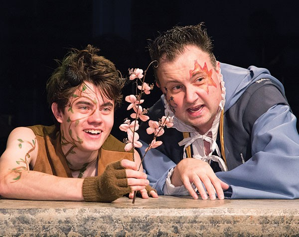 James Curry (left) and Eric Leslie in A Midsummer Night's Dream at Little Lake
