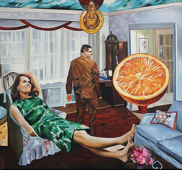 """Satisfaction,"" a painting by Scott Hunter"