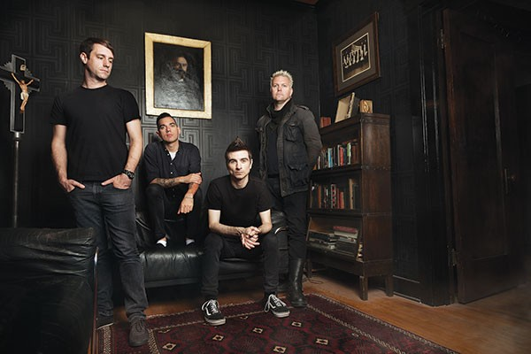 Anti-Flag (Justin Sane, second from right)