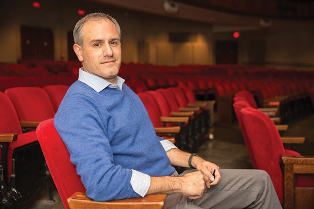 Ricardo Vila-Rogers in the Stephen Collins Foster theater at Pitt
