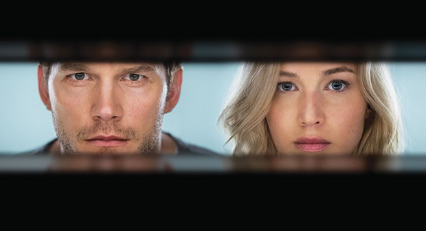 Look lively: Chris Pratt and Jennifer Lawrence