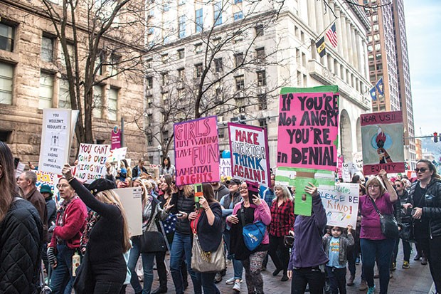 Thousands marched from Grant Street to Market Square, Downtown