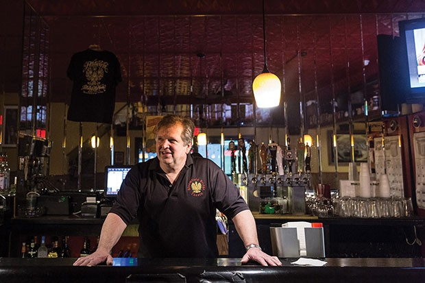 Steve Frankowski, owner of the Bloomfield Bridge Tavern, pays the entertainment tax for performers. - CP PHOTO BY MARANIE STAAB