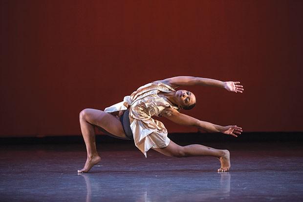 "Point Park University dancer Aysia Pollock in ""Traverse"""