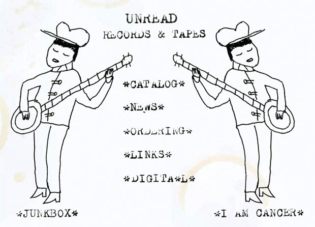 Original art on the Unread Records website by label founder Chris Fischer