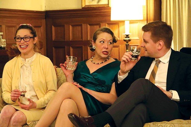 From left: Hilary Caldwell, Joanna Lowe and Tom Kolos in Cup-A-Jo's Who's Afraid of Virginia Woolf?